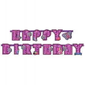 BANNER GLAMOUR GIRL 'HAPPY BIRTHDAY' - ΚΩΔ:129949-BB