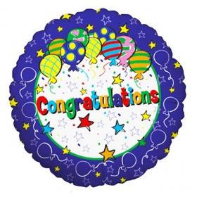 ΜΠΑΛΟΝΙ FOIL 43cm ΓΙΑ ΑΠΟΦΟΙΤΗΣΗ Congratulations ΜΕ ΑΣΤΕΡΙΑ ΚΑΙ ΜΠΑΛΟΝΙΑ – ΚΩΔ.:16106-BB