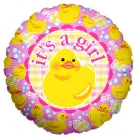 ΜΠΑΛΟΝΙ FOIL 45cm ΓΙΑ ΓΕΝΝΗΣΗ «It's a Girl» ΜΕ ΠΑΠΑΚΙ – ΚΩΔ.:16467-BB
