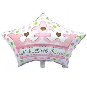 ΜΠΑΛΟΝΙ FOIL 44x68cm ΓΙΑ ΓΕΝΝΗΣΗ SUPERSHAPE «A New Little Princess» ΡΟΖ ΚΟΡΩΝΑ – ΚΩΔ.:206288-BB