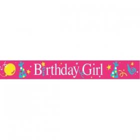ΠΛΑΣΤΙΚΟ BANNER BIRTHDAY GIRL - ΚΩΔ:29214-BB