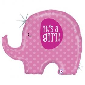 ΜΠΑΛΟΝΙ FOIL 81cm ΓΙΑ ΓΕΝΝΗΣΗ SUPERSHAPE «It's a Girl» ΕΛΕΦΑΝΤΑΚΙ – ΚΩΔ.:35584-BB