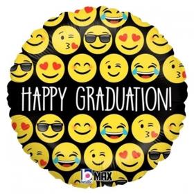 ΜΠΑΛΟΝΙ FOIL 43cm ΓΙΑ ΑΠΟΦΟΙΤΗΣΗ Happy Graduation ΜΕ ΦΑΤΣΟΥΛΕΣ – ΚΩΔ.:36547-BB