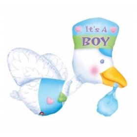 ΜΠΑΛΟΝΙ FOIL 81x58cm ΓΙΑ ΓΕΝΝΗΣΗ SUPERSHAPE «It's a Boy» ΠΕΛΑΡΓΟΣ – ΚΩΔ.:507063-BB