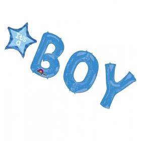 ΜΠΑΛΟΝΙ FOIL ΓΙΑ ΓΕΝΝΗΣΗ SUPERSHAPE «It's a Boy» ΜΠΛΕ – ΚΩΔ.:530956-BB