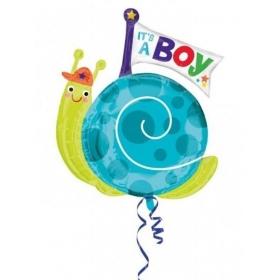 ΜΠΑΛΟΝΙ FOIL 68x73cm ΓΙΑ ΓΕΝΝΗΣΗ SUPERSHAPE «Baby Boy» ΣΑΛΙΓΚΑΡΙ – ΚΩΔ.:533660-BB