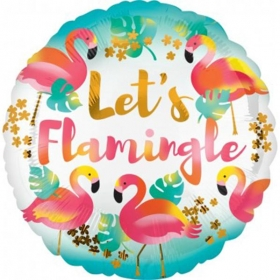 ΜΠΑΛΟΝΙ FOIL LET'S FLAMINGLE 45cm – ΚΩΔ.:537121-BB