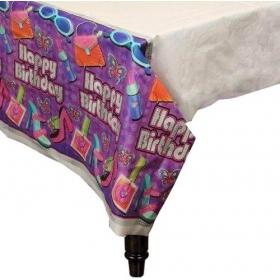 ΠΛΑΣΤΙΚΟ ΤΡΑΠΕΖΟΜΑΝΤΗΛΟ ''HAPPY BIRTHDAY'' GLAMOUR GIRL - ΚΩΔ:579949-BB
