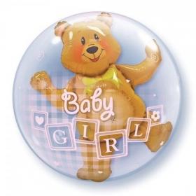 ΜΠΑΛΟΝΙ FOIL 60cm ΓΙΑ ΓΕΝΝΗΣΗ «Baby Girl» ΑΡΚΟΥΔΑΚΙ  – ΚΩΔ.:68647-BB