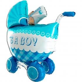 ΜΠΑΛΟΝΙ FOIL 107cm ΓΙΑ ΓΕΝΝΗΣΗ SUPERSHAPE «It's a Boy» ΚΑΡΟΤΣΑΚΙ 3D – ΚΩΔ.:73060-BB