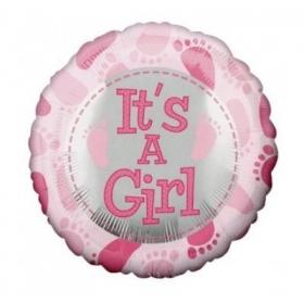 ΜΠΑΛΟΝΙ FOIL 91cm ΓΙΑ ΓΕΝΝΗΣΗ SUPERSHAPE «It's a Girl» ΠΑΤΟΥΣΑΚΙΑ – ΚΩΔ.:83369-BB