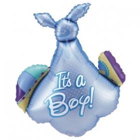 ΜΠΑΛΟΝΙ FOIL 86cm ΓΙΑ ΓΕΝΝΗΣΗ SUPERSHAPE «It's a Boy» ΠΑΝΑ – ΚΩΔ.:85049-BB