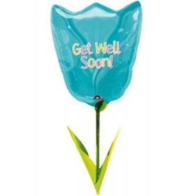 ΜΠΑΛΟΝΙ FOIL AIRWALKERS Τουλίπα «Get Well Soon»111 cm – ΚΩΔ.:10758-BB