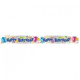 ΠΛΑΣΤΙΚΟ BANNER 'HAPPY BIRTHDAY' ΜΕ ΜΠΑΛΟΝΙΑ - ΚΩΔ:126511-BB