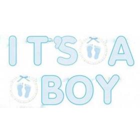 BANNER 'ITS A BOY' - ΚΩΔ:129078-BB