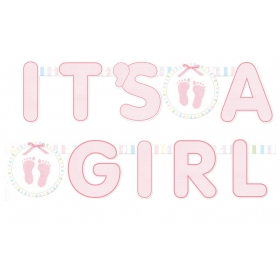 BANNER 'ITS A GIRL' - ΚΩΔ:129079-BB