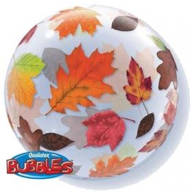 """ΜΠΑΛΟΝΙ FOIL 22""""(56cm) ΦΘΙΝΟΠΩΡΙΝΑ ΦΥΛΛΑ  Bubble ΜΟΝΟ – ΚΩΔ.:15186-BB"""
