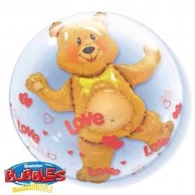 """ΜΠΑΛΟΝΙ FOIL 24""""(61cm) ΑΡΚΟΥΔΑΚΙ Bubble ΔΙΠΛΟ – ΚΩΔ.:15612-BB"""