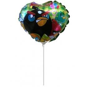 ΜΠΑΛΟΝΙ FOIL MINI SHAPE 7''(18cm) ΚΑΡΔΙΑ Angry Birds – ΚΩΔ.:206193-BB