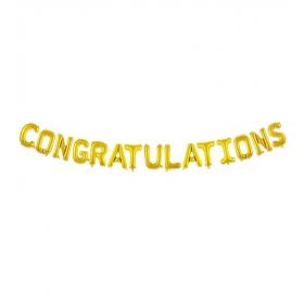 ΜΠΑΛΟΝΙ FOIL 40cm ΓΙΑ ΑΠΟΦΟΙΤΗΣΗ  ΧΡΥΣΟ «Congratulations» – ΚΩΔ.:207115-BB