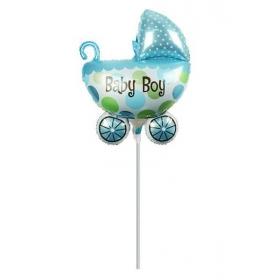 ΜΠΑΛΟΝΙ FOIL MINI SHAPE 27x42cm BABY BOY ΚΑΡΟΤΣΑΚΙ – ΚΩΔ.:207167-BB