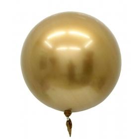 """ΜΠΑΛΟΝΙ FOIL 22""""(56cm) ΧΡΥΣΟ Bubble Chrome – ΚΩΔ.:207195-BB"""