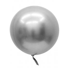 """ΜΠΑΛΟΝΙ FOIL 32""""(81cm) ΑΣΗΜΙ Bubble Chrome – ΚΩΔ.:207198-BB"""