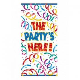 ΠΛΑΣΤΙΚΟ BANNER ΓΙΑ ΠΟΡΤΑ 'THE PARTY IS HERE' - ΚΩΔ:24264-BB