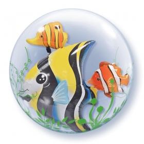 """ΜΠΑΛΟΝΙ FOIL 24""""(61cm) ΨΑΡΑΚΙΑ Bubble ΔΙΠΛΟ – ΚΩΔ.:68809-BB"""