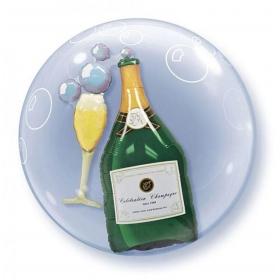 """ΜΠΑΛΟΝΙ FOIL 24""""(61cm) ΠΟΤΗΡΙΑ ΚΑΙ ΣΑΜΠΑΝΙΑ Bubble ΔΙΠΛΟ – ΚΩΔ.:68810-BB"""