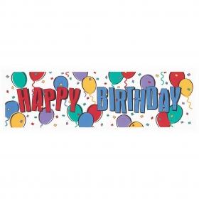 ΤΕΡΑΣΤΙΟ BANNER 'HAPPY BIRTHDAY' ΜΕ ΜΠΑΛΟΝΙΑ - ΚΩΔ:991324-BB