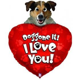 ΜΠΑΛΟΝΙ FOIL 100cm SUPER SHAPE ΣΚΥΛΑΚΙ «Doggone It! I Love You» - ΚΩΔ.:14150-BB