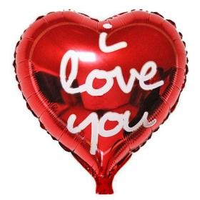 ΜΠΑΛΟΝΙ FOIL 18''(46cm) ΜΕΤΑΛΛΙΚΗ ΚΟΚΚΙΝΗ ΚΑΡΔΙΑ «I Love You» – ΚΩΔ.:206251-BB
