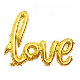 ΜΠΑΛΟΝΙ FOIL 68x46cm SUPER SHAPE «Love» ΧΡΥΣΗ ΕΝΝΩΜΕΝΗ ΦΡΑΣΗ - ΚΩΔ.:207125-BB