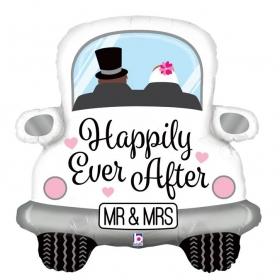 ΜΠΑΛΟΝΙ FOIL 79cm SUPER SHAPE ΑΜΑΞΙ ΓΑΜΟΥ «Happily Ever After» - ΚΩΔ.:35588-BB