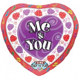 ΜΟΥΣΙΚΟ ΜΠΑΛΟΝΙ FOIL 74cm ΚΑΡΔΙΑ «ME & YOU» - ΚΩΔ.:514928-BB