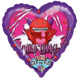 ΜΟΥΣΙΚΟ ΜΠΑΛΟΝΙ FOIL 74cm ΚΑΡΔΙΑ  «Wild Thing» - ΚΩΔ.:513375-BB