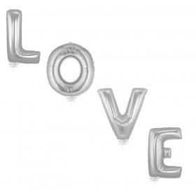 ΜΠΑΛΟΝΙ FOIL 40cm SUPER SHAPE «Love» ΑΣΗΜΙ - ΚΩΔ.:526LG03-BB