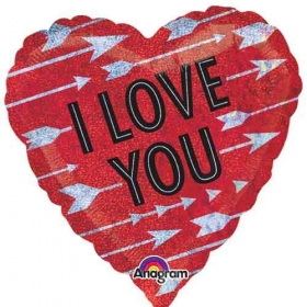 ΜΠΑΛΟΝΙ FOIL 45cm ΚΟΚΚΙΝΗ ΚΑΡΔΙΑ «Love You» ΜΕ ΒΕΛΗ - ΚΩΔ.:531795-BB
