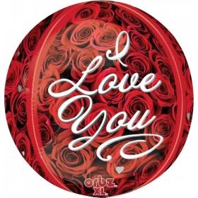 ΜΠΑΛΟΝΙ FOIL 38cm «I Love You» ΤΡΙΝΤΑΦΥΛΛΑ ORBZ - ΚΩΔ.:531837-BB
