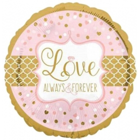 ΜΠΑΛΟΝΙ FOIL 45cm «Love Alaways And Forever» - ΚΩΔ.:533571-BB