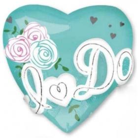ΜΠΑΛΟΝΙ FOIL 71cm ΚΑΡΔΙΑ «I Do» ΤΥΡΚΟΥΑΖ  - ΚΩΔ.:533578-BB