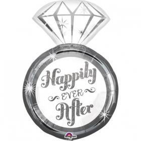 ΜΠΑΛΟΝΙ FOIL 45x68cm SUPER SHAPE ΜΟΝΟΠΕΤΡΟ «Happily Ever After» - ΚΩΔ.:534458-BB