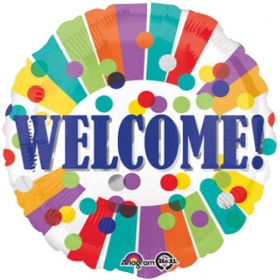ΜΠΑΛΟΝΙ FOIL 45cm «Welcome» ΠΟΥΑ & ΡΙΓΕΣ – ΚΩΔ.:534544-BB