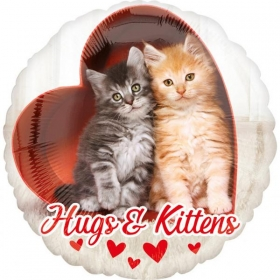 ΜΠΑΛΟΝΙ FOIL 45cm ΚΑΡΔΙΑ AVANTI HUGS & KITTENS  - ΚΩΔ.:536381-BB