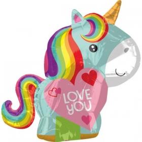 ΜΠΑΛΟΝΙ FOIL 43x53cm JUNIOR SHAPE ΜΟΝΟΚΕΡΣ «Love You» - ΚΩΔ.:536426-BB