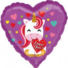 ΜΠΑΛΟΝΙ FOIL 45cm ΚΑΡΔΙΑ «Love You» ΜΟΝΟΚΕΡΟΣ - ΚΩΔ.:536451-BB