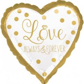 ΜΠΑΛΟΝΙ FOIL 45cm ΚΑΡΔΙΑ «Love Always And Forever» - ΚΩΔ.:536551-BB