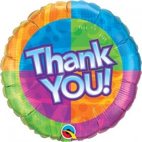 ΜΠΑΛΟΝΙ FOIL 45cm «Thank You» ΠΟΛΥΧΡΩΜΟ  – ΚΩΔ.:60872-BB