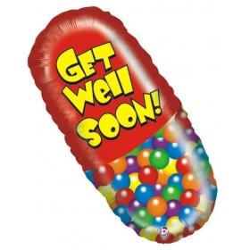 ΜΠΑΛΟΝΙ FOIL 73cm SUPER SHAPE CAPSULE «Get Well Soon»– ΚΩΔ.:85271-BB